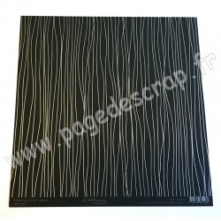 SCRAPBOOKING ADDICT COLLECTION L'OR ET L'ARGENT LIGNES ARGENT 30.5 x30.5 cm
