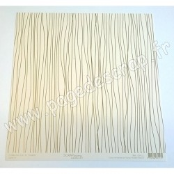 SCRAPBOOKING ADDICT COLLECTION L'OR ET L'ARGENT LIGNES OR 30.5 x30.5 cm