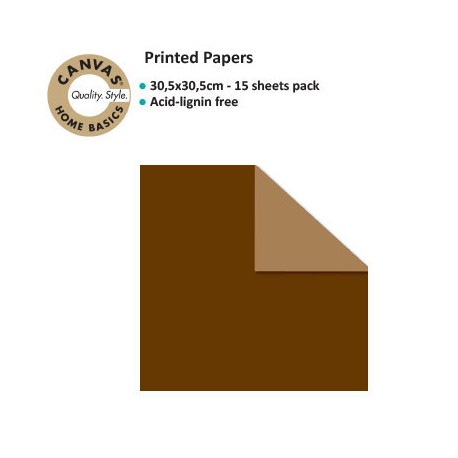 CANVAS CORP PRINTED PAPER SOLID CHOCOLATE