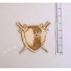 PDS SUJET BOIS FIN 1 mm BOUCLIER