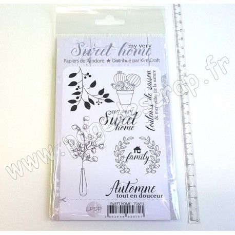 LES PAPIERS DE PANDORE TAMPON CLEAR MY VERY SWEET HOME