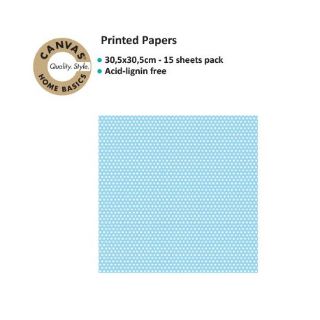 CANVAS CORP PRINTED PAPER BLUE IVORY MINI DOT