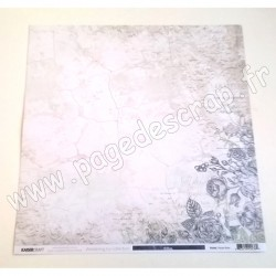 KAISERCRAFT WANDERING IVY COLLECTION PLASTER ROSE 30.5 cm x 30.5 cm