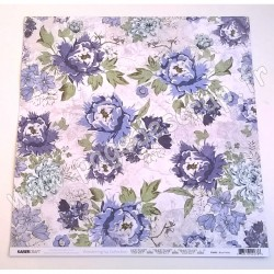 KAISERCRAFT WANDERING IVY COLLECTION BLUE FIELDS 30.5 cm x 30.5 cm