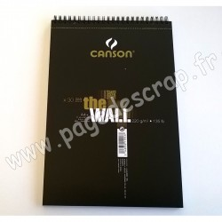 CANSON THE WALL ALBUM SPIRALE 30 feuilles A4+  220 gr   MIX MEDIA