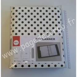 RAYHER PLANNER A5 POIS NOIRS/BLANC