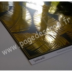 SWIRLCARDS COLLECTION REFLET D'OR FLAVESCENT DORE 30.5 cm x 30.5 cm