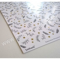 SWIRLCARDS COLLECTION REFLET D'OR BLE DORE 30.5 cm x 30.5 cm