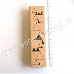 FLORILEGES DESIGN TAMPON BOIS TRIANGLES ENCHAINES COLLECTION GRAPHIC LOVE