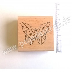 FLORILEGES DESIGN TAMPON BOIS PAPILLON ORIGAMI COLLECTION GRAPHIC LOVE