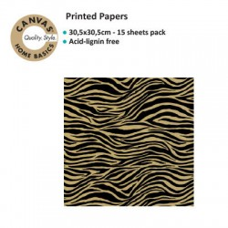 CANVAS CORP PRINTED BLACK KRAFT ZEBRA