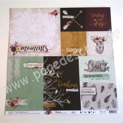 FLORILEGES DESIGN COLLECTION GYPSY FOREST 1   30.5 cm x 30.5 cm