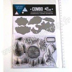 FLORILEGES DESIGN COMBO CLEAR DIE INTO THE WOODS