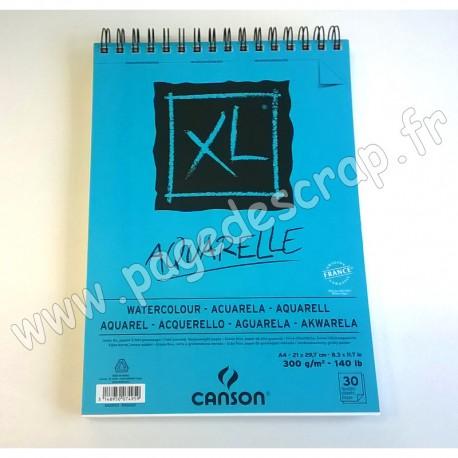 CANSON XL BLOC AQUARELLE 300 g A4 30 feuilles
