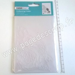 KAISER CRAFT EMBOSSING FOLDER FLORAL CLUSTER 150 mm x 106 mm