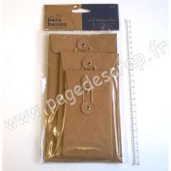 DOCRAFTS ENVELOPPES FICELLE KRAFT RECTANGLE 6 pièces