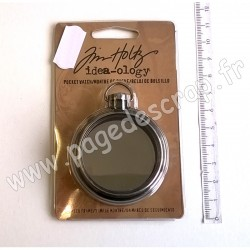 TIM HOLTZ POCKET WATCH 6.3 cm ANTIQUE NICKEL