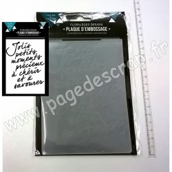 FLORILEGES DESIGN PLAQUE D'EMBOSSAGE MOMENTS A CHERIR 10.5 cm x 14.5 cm