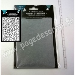 FLORILEGES DESIGN PLAQUE D'EMBOSSAGE FEUILLES EMMELEES 10.5 cm x 14.5 cm