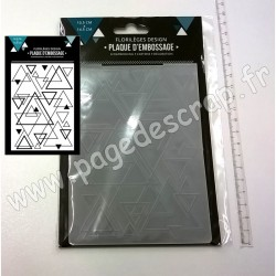 FLORILEGES DESIGN PLAQUE D'EMBOSSAGE MIX DE TRIANGLES 10.5 cm x 14.5 cm