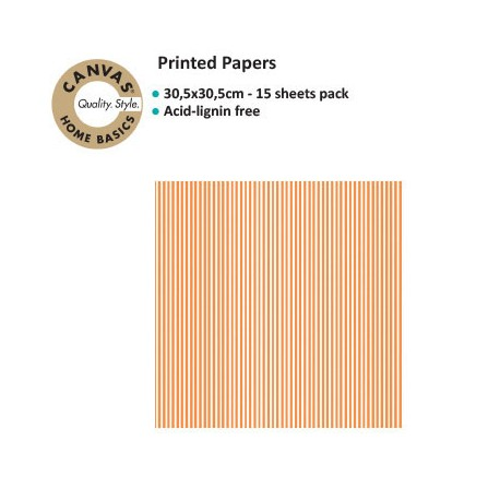 CANVAS CORP PRINTED PAPER ORANGE WHITE RIBBON