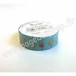 RAYHER WASHI TAPE SUNNY ICECREAM 15 mm x 10m
