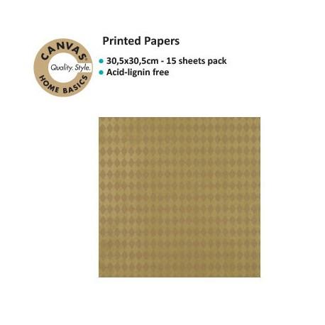CANVAS CORP PRINTED PAPER GOLD KRAFT DIAMONDS