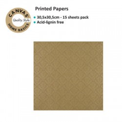 CANVAS CORP PRINTED PAPER GOLD KRAFT DAMASK