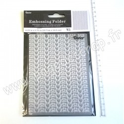 DARICE EMBOSSING TEMPLATE KNIT SWEATER 10,8 cm x 14,6 cm