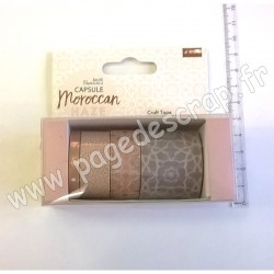 DOCRAFTS PAPERMANIA CRAFT TAPE CAPSULE MOROCCAN HAZE 4 x 5m