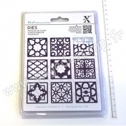 DOCRAFTS DIE MOROCCAN TILES  9 pièces