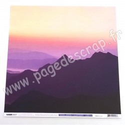 KAISERCRAFT MISTY MOUNTAINS COLLECTION SUNSET 30.5 cm x 30.5 cm