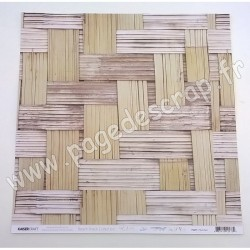 KAISERCRAFT BEACH SHACK COLLECTION THATCHED 30.5 cm x 30.5 cm