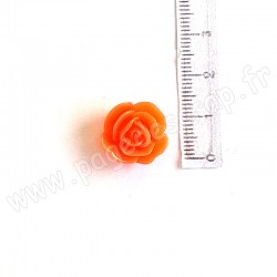 EPHEMERIA ROSE EN RESINE ORANGE VIF