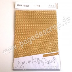 TONIC STUDIOS CRAFT PERFECT PAPIER SPECIAL A4 x5 150g GOLDEN SCALES