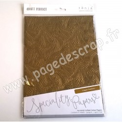 TONIC STUDIOS CRAFT PERFECT PAPIER SPECIAL A4 x5 150g COPPER FEATHERS