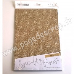 TONIC STUDIOS CRAFT PERFECT PAPIER SPECIAL A4 x5 150g WARM DAHLIA