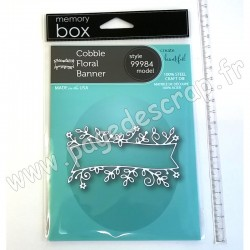 MEMORY BOX COBBLE FLORAL BANNER CRAFT DIE
