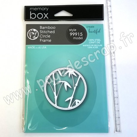 MEMORY BOX BAMBOO STITCHED CIRCLE FRAME CRAFT DIE