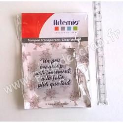 ARTEMIO TAMPON CLEAR 4 cm x 4 cm UN PEU BEAUCOUP