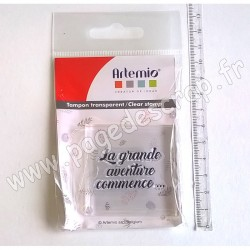 ARTEMIO TAMPON CLEAR 4 cm x 4 cm GRANDE AVENTURE
