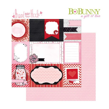 BO BUNNY HEAD OVER HEELS DATE NIGHT PAPER