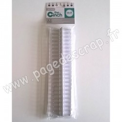 WE R MEMORY KEEPERS THE CINCH FILS POUR RELIURES 1,9 cm 30,5 cm BLANC x2