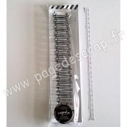 HEIDI SWAPP MAGNOLIA JANE THE CINCH FILS POUR RELIURES 1,9 cm 21 cm NOIR x2