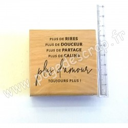 FLORILEGES DESIGN COLLECTION SOFT&GREEN TAMPON BOIS TOUJOURS PLUS D'AMOUR