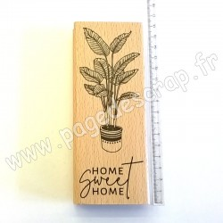 FLORILEGES DESIGN COLLECTION SOFT&GREEN TAMPON BOIS HOME SWEET HOME