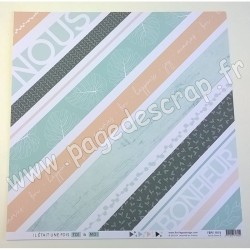 FLORILEGES DESIGN COLLECTION SOFT & GREEN N°8   30.5 cm x 30.5 cm