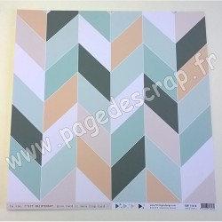 FLORILEGES DESIGN COLLECTION SOFT & GREEN N°7   30.5 cm x 30.5 cm
