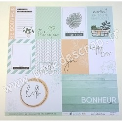 FLORILEGES DESIGN COLLECTION SOFT & GREEN N°3   30.5 cm x 30.5 cm