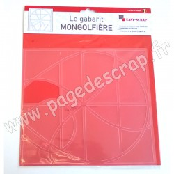 EASY SCRAP GABARIT MONTGOLFIERE